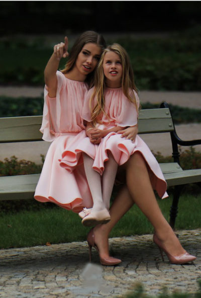 Oblekica otroška  svečana Flamingo